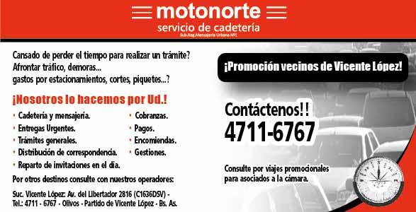 OT 2620 motonorte ba cadetes promocion vecinos san isidro